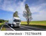 truck transportation | Shutterstock . vector #752786698