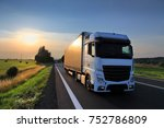 truck transportation on the... | Shutterstock . vector #752786809