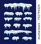 vector collection of icicles... | Shutterstock .eps vector #752794324