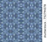 abstract vector modern seamless ... | Shutterstock .eps vector #752794378