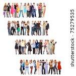 steps crowd diversity   Shutterstock . vector #75279535