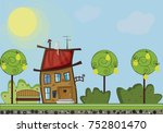 horizontal  illustration of...   Shutterstock . vector #752801470
