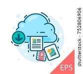 save cloud computing. web icon. ...   Shutterstock .eps vector #752806906