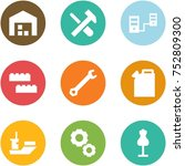 origami corner style icon set   ... | Shutterstock .eps vector #752809300
