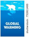 global warming social... | Shutterstock .eps vector #752811400