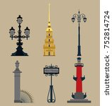 set of symbols of saint... | Shutterstock .eps vector #752814724