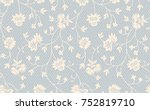 floral lace seamless ornament | Shutterstock .eps vector #752819710
