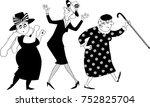vector black silhouette... | Shutterstock .eps vector #752825704