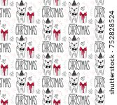 holidays seamless pattern with... | Shutterstock .eps vector #752828524