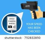 handheld speed radar lidar...   Shutterstock .eps vector #752832850