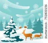 fantastic winter background... | Shutterstock .eps vector #752833156