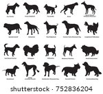 vector set of different breeds... | Shutterstock .eps vector #752836204