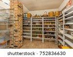 home food storage room. various ... | Shutterstock . vector #752836630