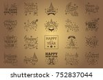 happy new year. set of... | Shutterstock .eps vector #752837044