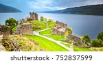 Urquhart Castle With Dark Clou...