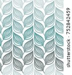 seamless pattern of hand drawn... | Shutterstock .eps vector #752842459