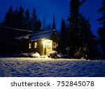 off grid tiny house in the... | Shutterstock . vector #752845078
