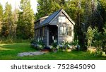 off grid tiny house in the... | Shutterstock . vector #752845090