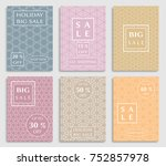 collection of sale banners ... | Shutterstock .eps vector #752857978