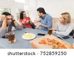the company of young people... | Shutterstock . vector #752859250