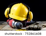 safety accessories and impact... | Shutterstock . vector #752861608