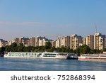 city skyline of vienna in... | Shutterstock . vector #752868394