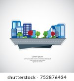 modern city  vector illustration | Shutterstock .eps vector #752876434