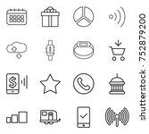thin line icon set   calendar ...