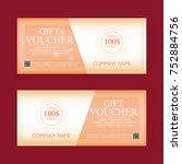 gift voucher 100 dollars  two... | Shutterstock . vector #752884756