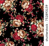 flowers pattern.for textile ... | Shutterstock . vector #752893159