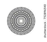 greek style ornamental... | Shutterstock .eps vector #752896540