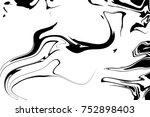 white and black digital... | Shutterstock . vector #752898403