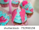 bright mint cupcakes | Shutterstock . vector #752900158
