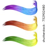 colorful 3d curled brush paint... | Shutterstock . vector #752902480