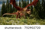 3d Rendering Of The Red Dragon