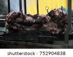 traditionally suckling pig on a ... | Shutterstock . vector #752904838