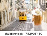 young woman tourist... | Shutterstock . vector #752905450