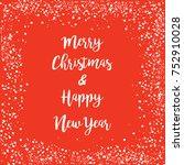merry christmas   happy new... | Shutterstock .eps vector #752910028