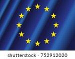 european union flag   Shutterstock .eps vector #752912020