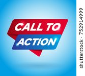 call to action arrow tag sign. | Shutterstock .eps vector #752914999