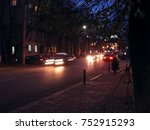 night city street background | Shutterstock . vector #752915293