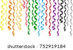 different streamers. vector... | Shutterstock .eps vector #752919184