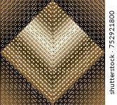 gold 3d lattice seamless... | Shutterstock .eps vector #752921800