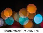 softened lights in the night.... | Shutterstock . vector #752937778