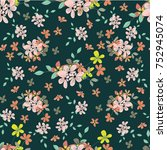 seamless floral pattern. floral ... | Shutterstock .eps vector #752945074