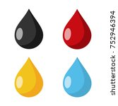 drop flat design icon   Shutterstock .eps vector #752946394