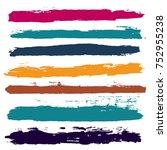 brush strokes set backgrounds.... | Shutterstock .eps vector #752955238
