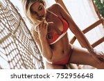 summer goddess. attractive... | Shutterstock . vector #752956648