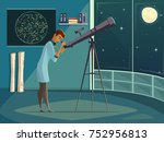 Astronomer Scientist Observing...