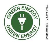 Green Energy Stamp With Plug...